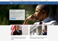 白宫官网升级,网站制作采用HTML5响应式布局